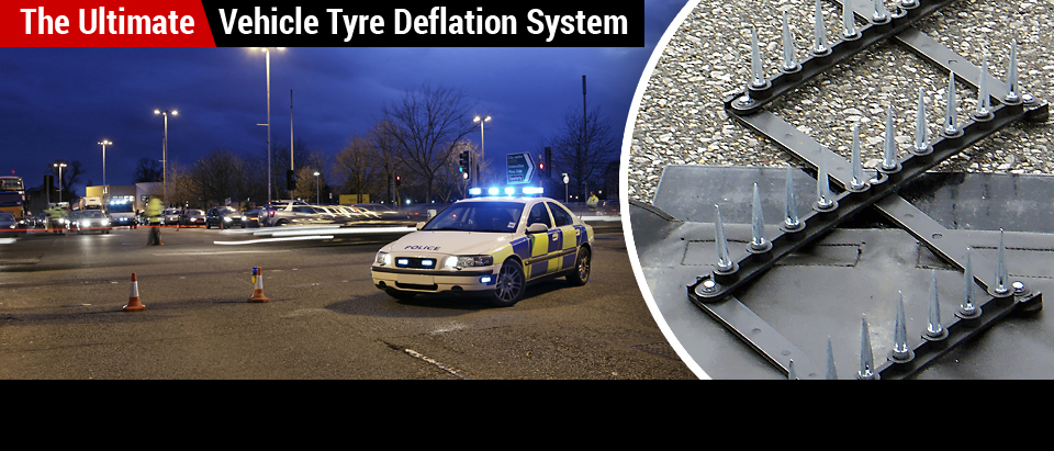 Police use MagnumSpike Tyre / Tire Spikes to end car pursuits quickly and safely